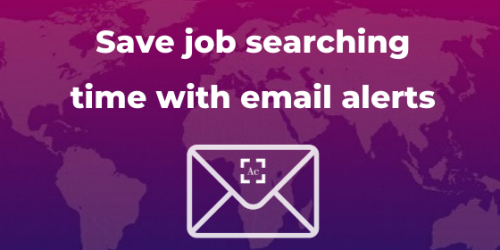 Save job searching time with email alerts