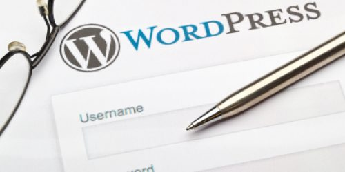 Wordpress login page.